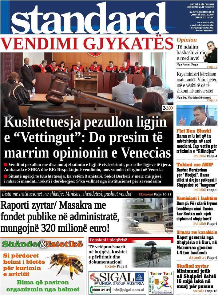 Gazeta standard 2016