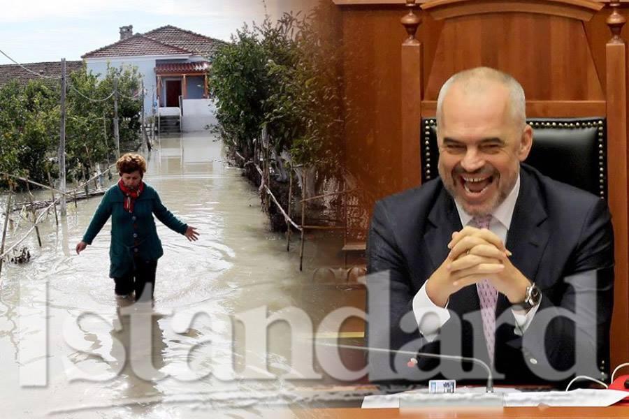 Shqipëria përmbytet  qeveria dhe Kryeministri rrinë e veshtrojnë
