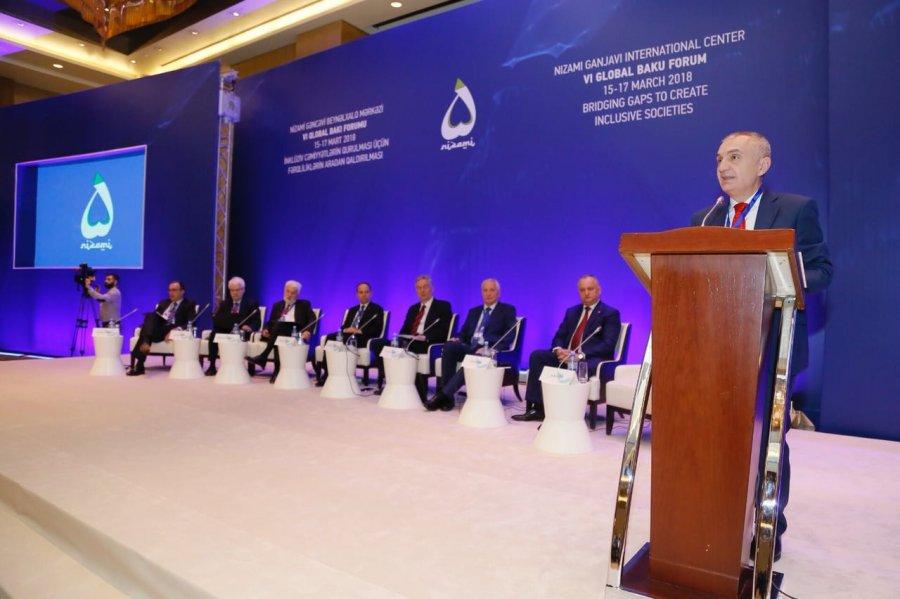 FOTO  Presidenti Meta  folësi kryesor në panelin për Ballkanin në Forumin e 6 të Global të Baku së