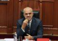 Kreyeministri Edi Rama, duke folur gjate nje seance parlamentare, ku eshte diskutuar projektligji per autoritetet e drejtimit dhe komandimit ne Forca e Armatosura te Shqiperise./r/n/r/nPrime Minister Edi Rama, speaks during a parliamentary session.
