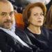 Kryetari i PS Edi Rama, deputetet Sajmir Tahiri dhe Arta Dade, gjate Kongresit te Forumit te Gruas te Partise Socialiste, ne Pallatin e Kongreseve.