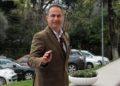 Deputeti i PD, Luciano Boci, duke dale nga nje mbledhje te grupit parlamentar te Partise Demokratike, ku eshte diskutuar per raportin e Komisionit te Venecias per Reformen ne Drejtesi./r/n/r/nLawmaker, Luciano Boci, during a meeting of the parliamentary group of Democratic Party, DP.