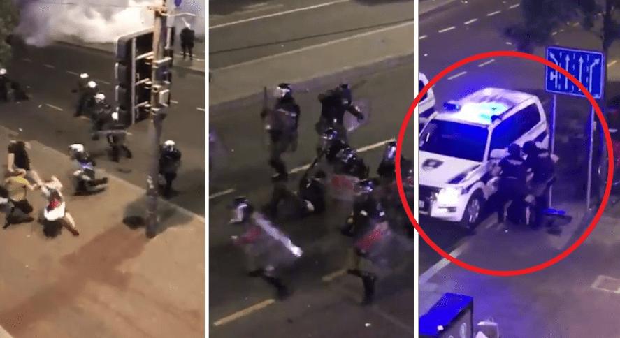VIDEO  Policia serbe del  jashtë kontrollit   shkopinj gome dhe shkelma mbi protestuesin pa ndjenja